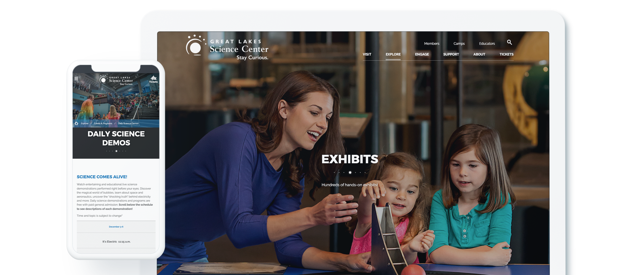 Great Lakes Science Center Website Design