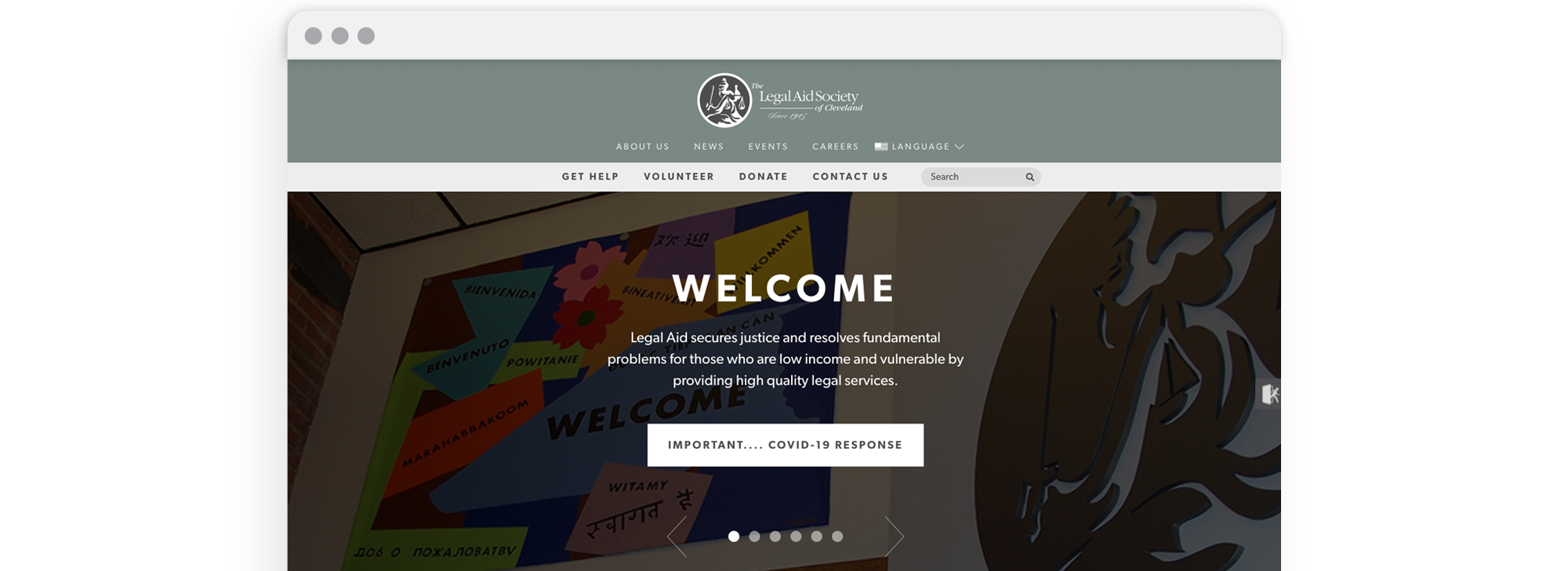 Legal Aid Society of Cleveland Website Design