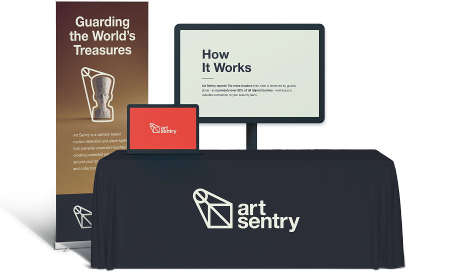 art sentry trade show collateral