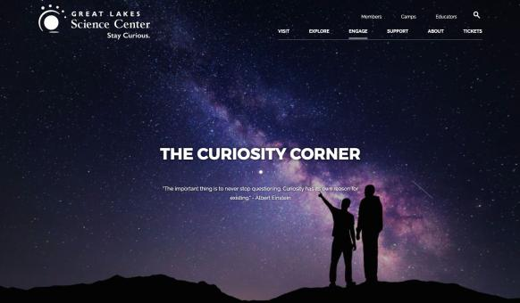 Great Lakes Science Center Website